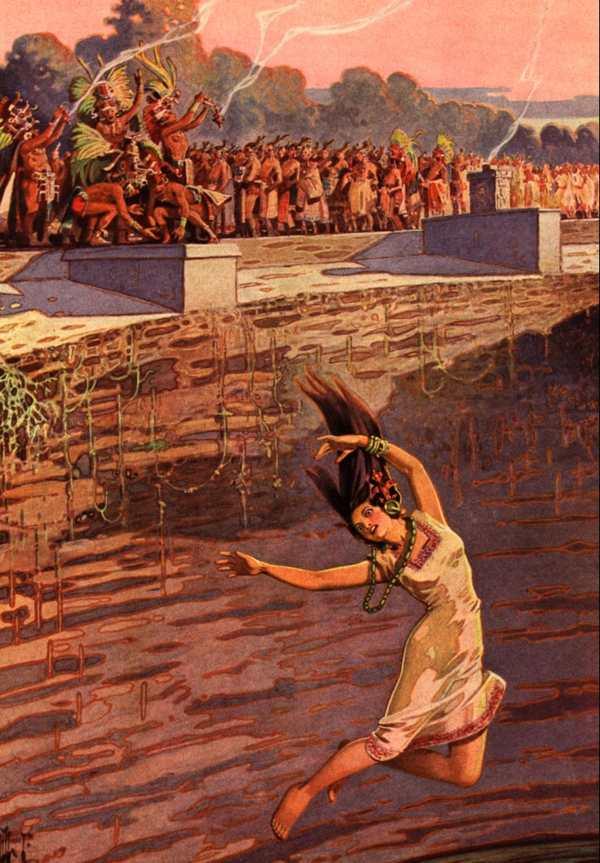 Жертвоприношения в воронке Майя