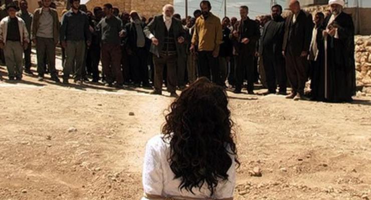 Закидывание камнями до смерти прелюбодеев в Иране