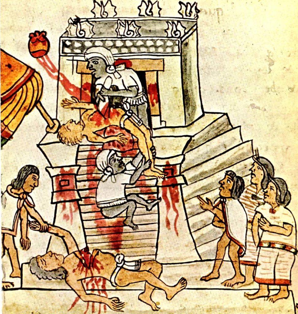 Человеческие жертвы Ацтеков