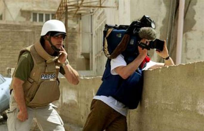 Военным корреспондентом
