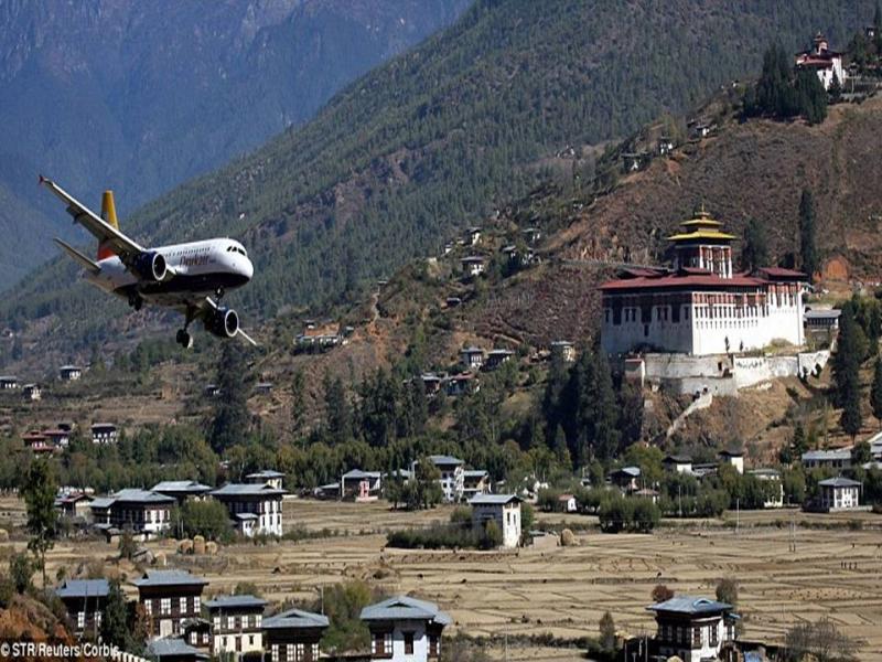 Аэропорт Паро в Бутане, Гималайские горы