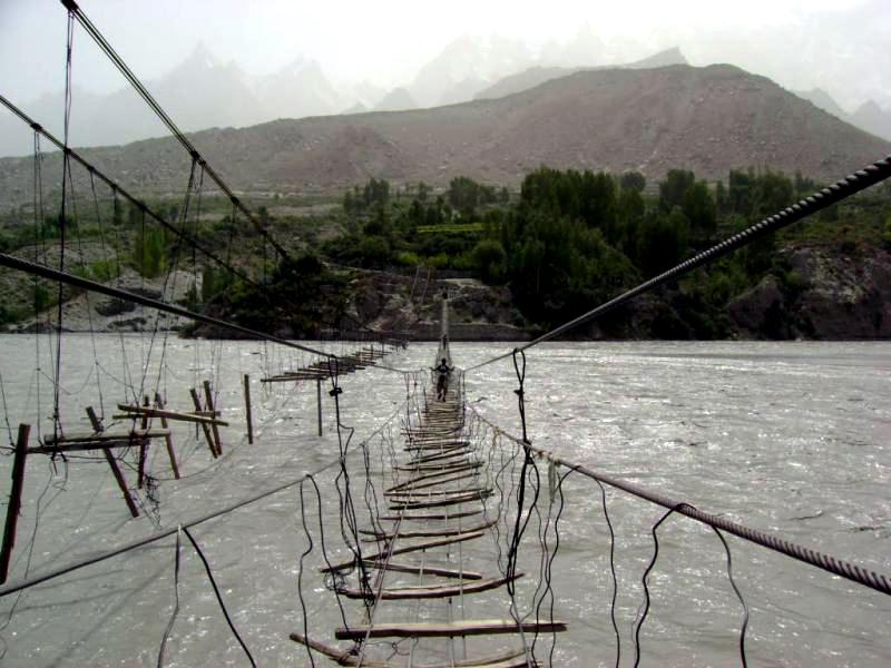 Висячий Мост Хусаини, Пакистан