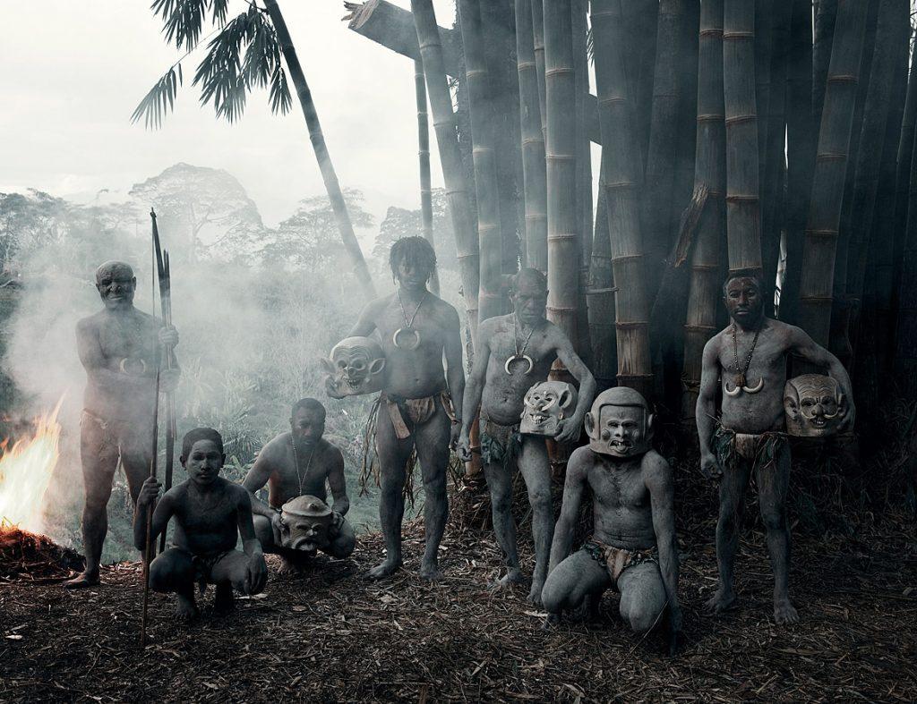 Asaro грязевые мужчины, Горока, Папуа Новая Гвинея