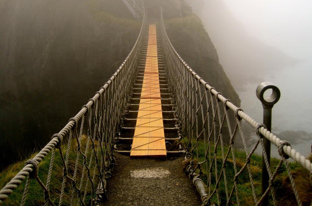 CARRICK-A-REDE канатный мост, Ирландия