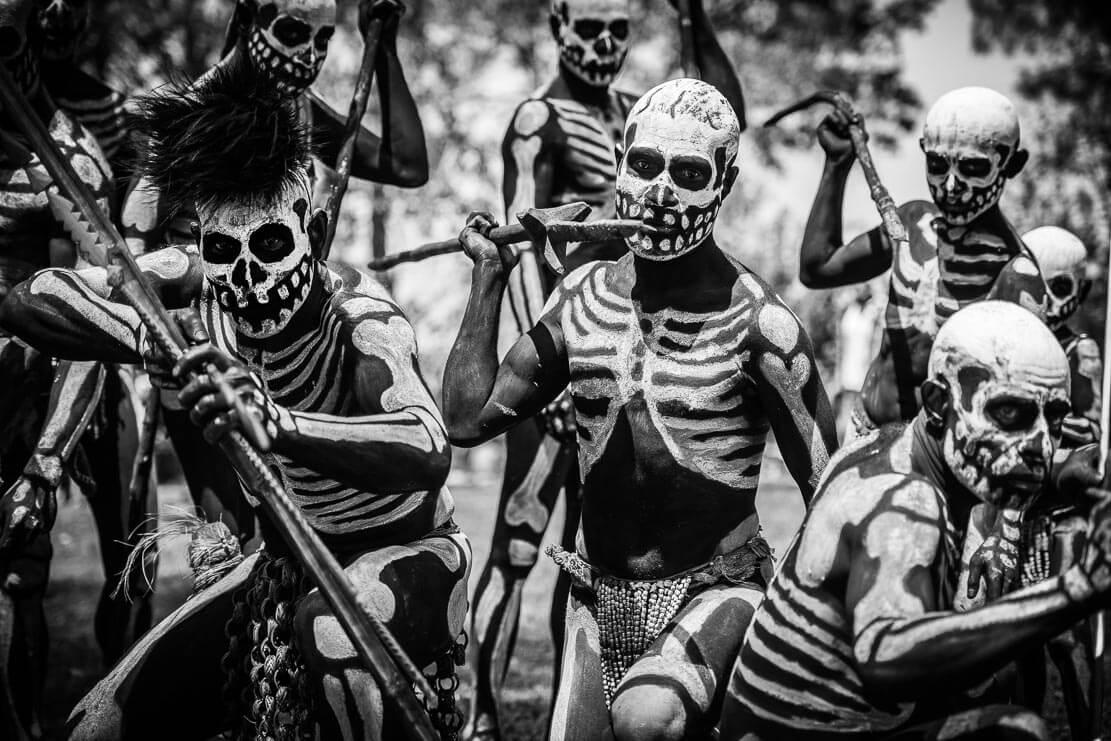 Chimbu Танцоры-Скелеты, Провинция Chimbu, Папуа Новая Гвинея