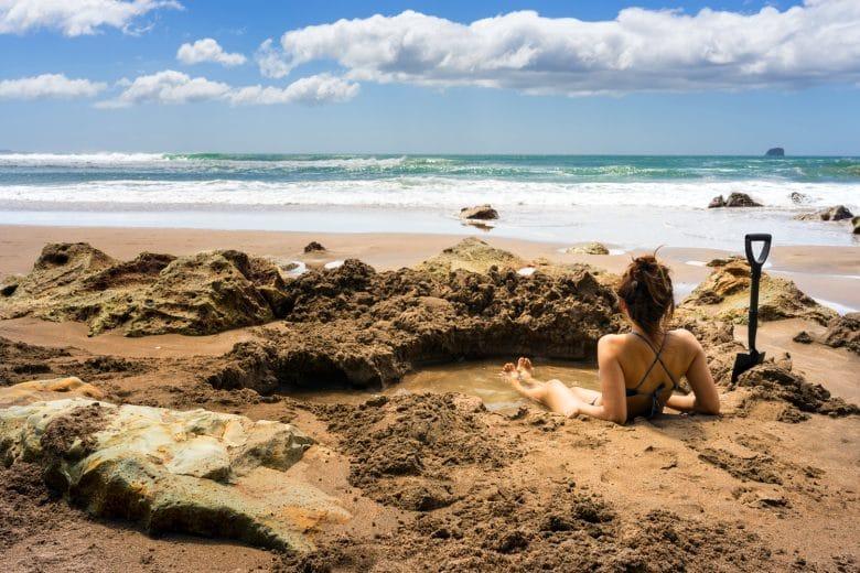 Пляж с горячей водой, Новая Зеландия