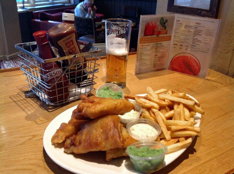 Обед в пабе Лондон