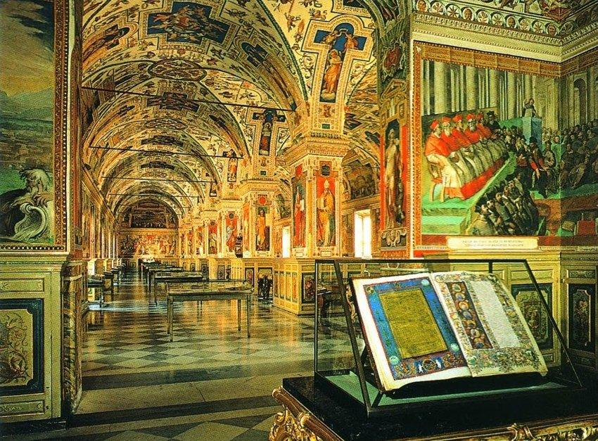 библиотека Ватикана в Риме