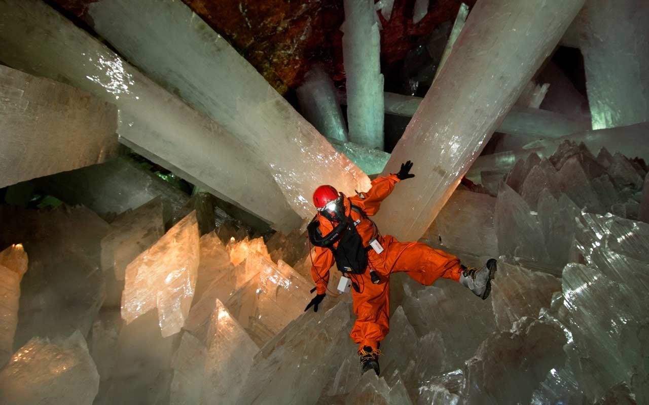 Пещера гигантских кристаллов, Мексика