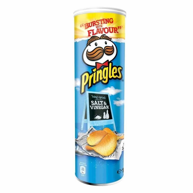 Картофельные чипсы Pringles со вкусом соли и уксуса