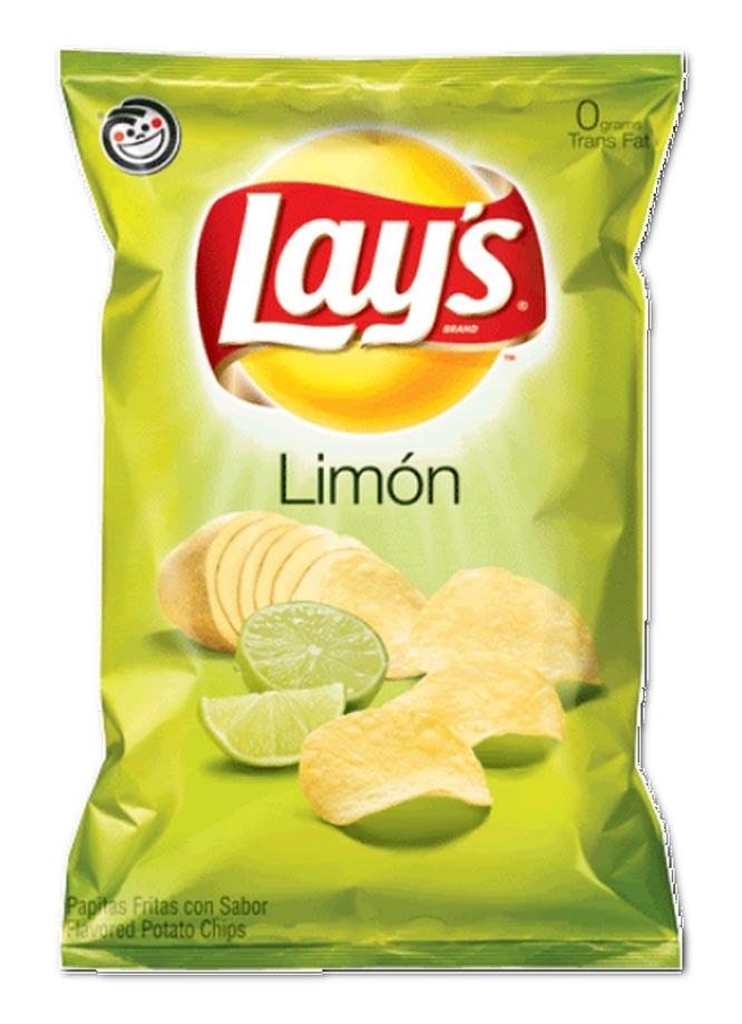 Чипсы Lay's со вкусом лимона