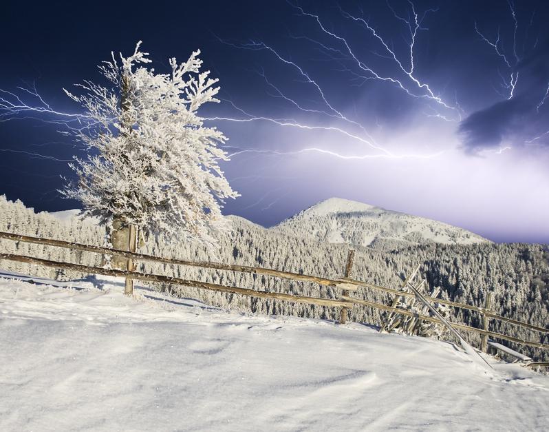 Снежные-молнии