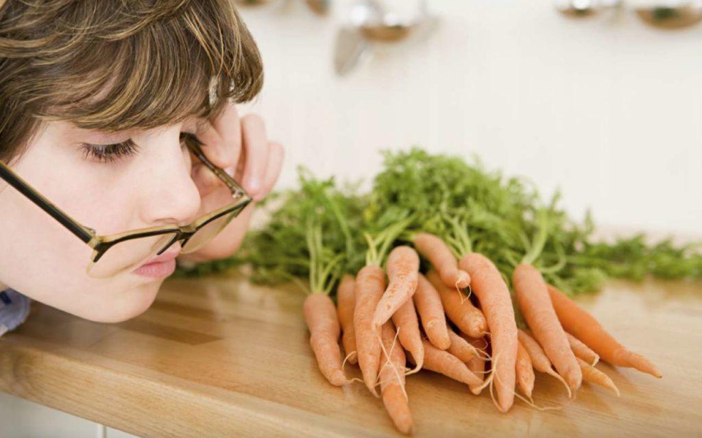 морковь способствует хорошему зрению