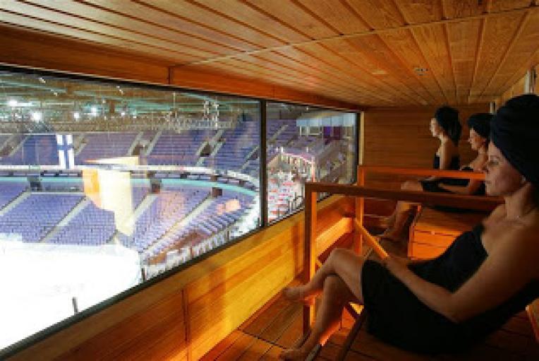 Сауна на стадионе