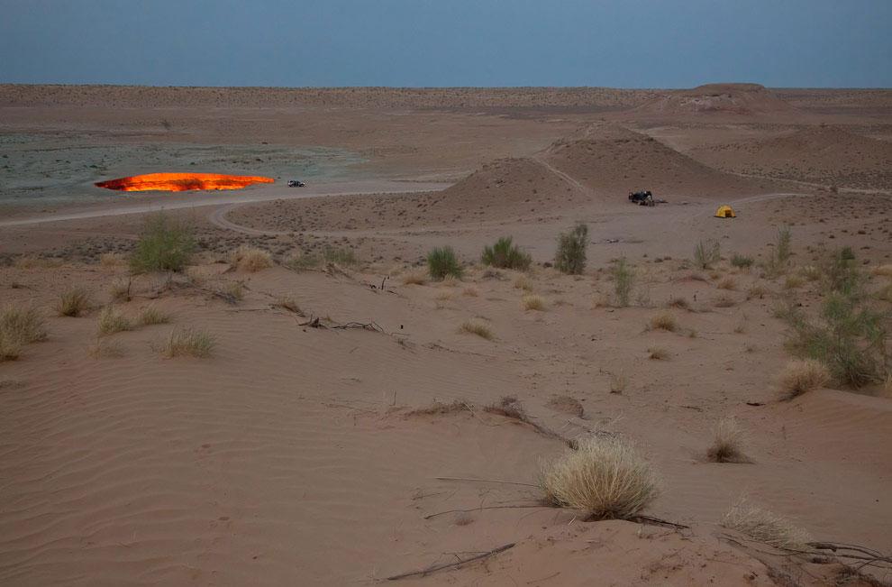 Пустыня Каракум на юге Средней Азии