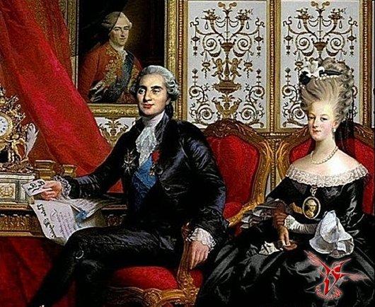 брак между Марией Антуанеттой и Людовиком