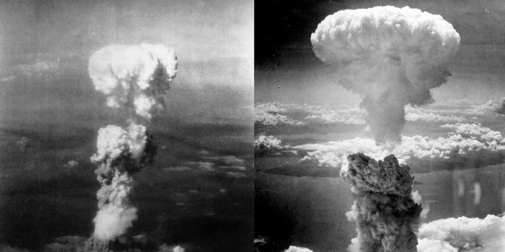 Грибовидное облако над Нагасаки