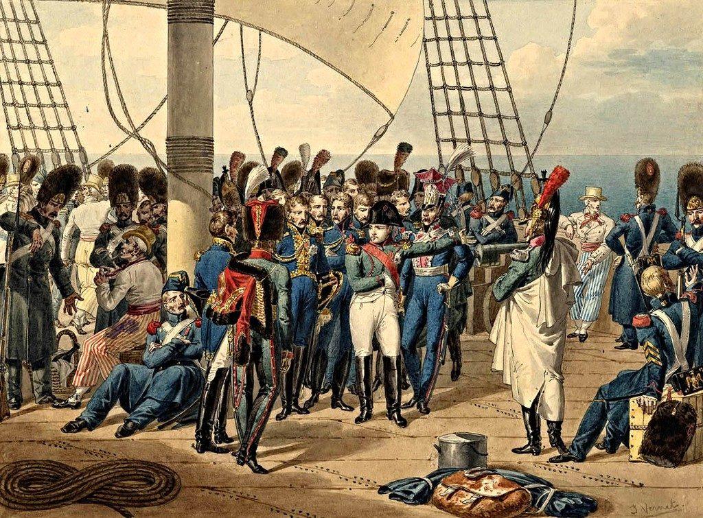 Наполеон бежал с Эльбы