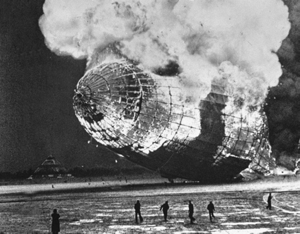 Катастрофа дирижабля «Гинденбург», Нью-Джерси, США (1937)