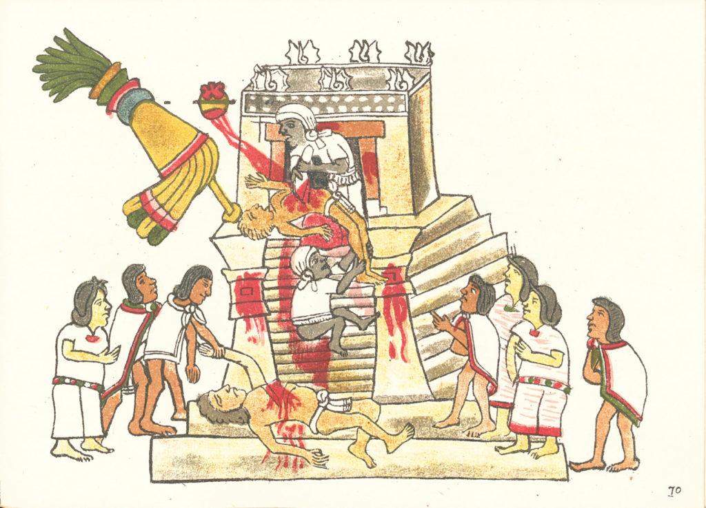 Человеческие жертвоприношения играли центральную роль в культуре ацтеков