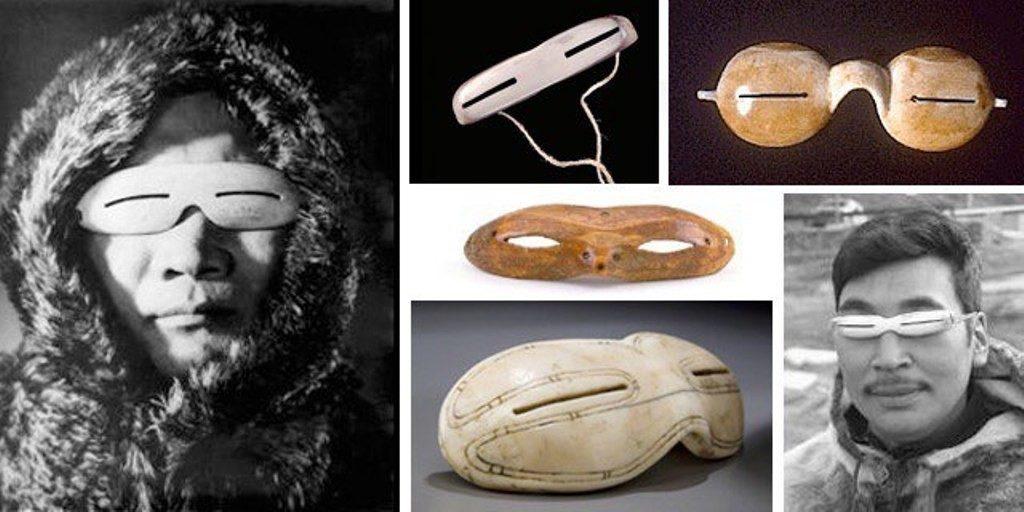 инуиты носили очки из моржовой кости
