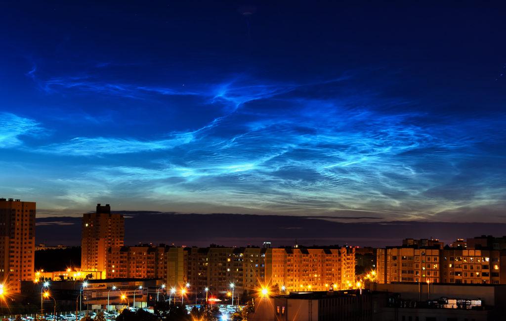 Серебристые облака (NOCTILUCENT CLOUD)
