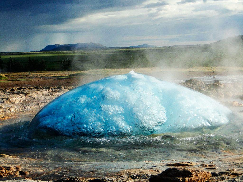 Гейзеры Хаукадалур, Исландия
