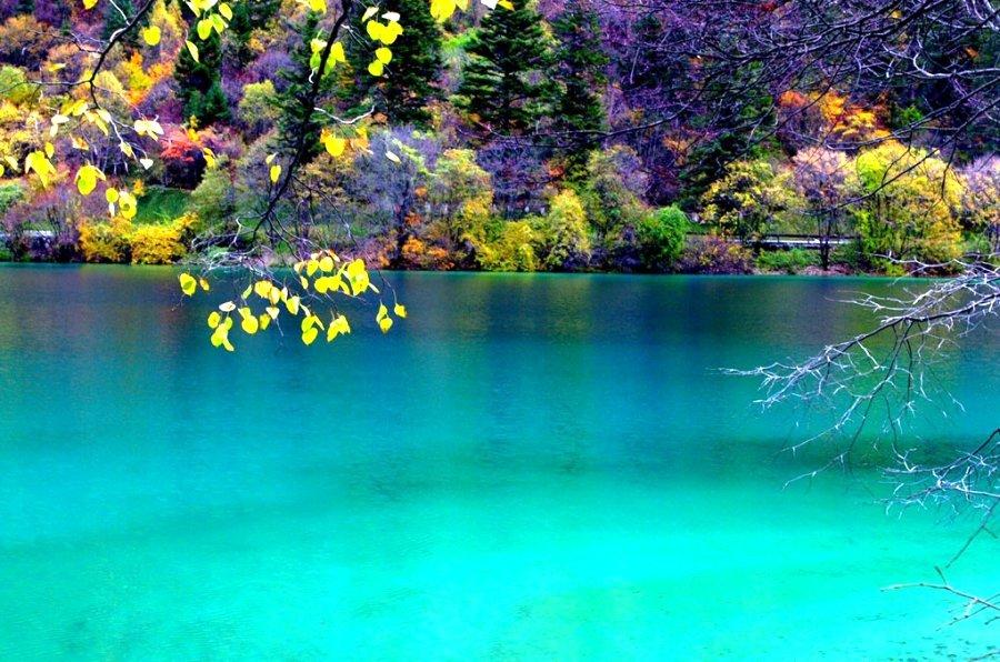 Озеро пяти цветов, Сычуань, Китай