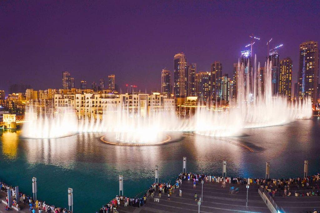 Фонтан Бурдж Халифа, Дубай