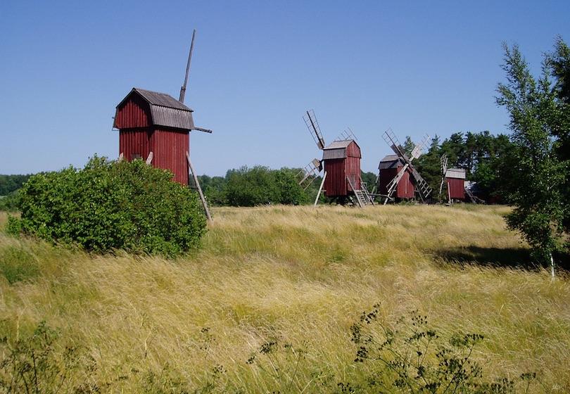 Эландские ветряные мельницы (Öland, Швеция)