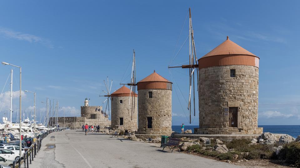 Родосские ветряные мельницы