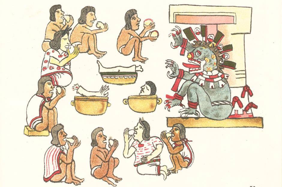 Каннибализм практиковался ацтеками как часть человеческих жертвенных ритуалов