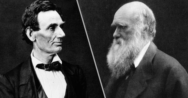 Чарльз Дарвин и Авраам Линкольн