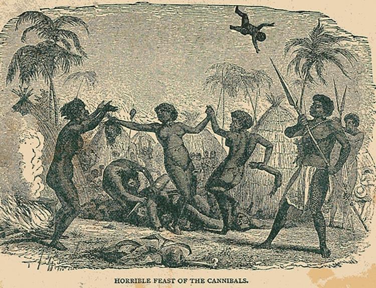 Каннибализм был распространен среди враждующих племен Маркизских островов