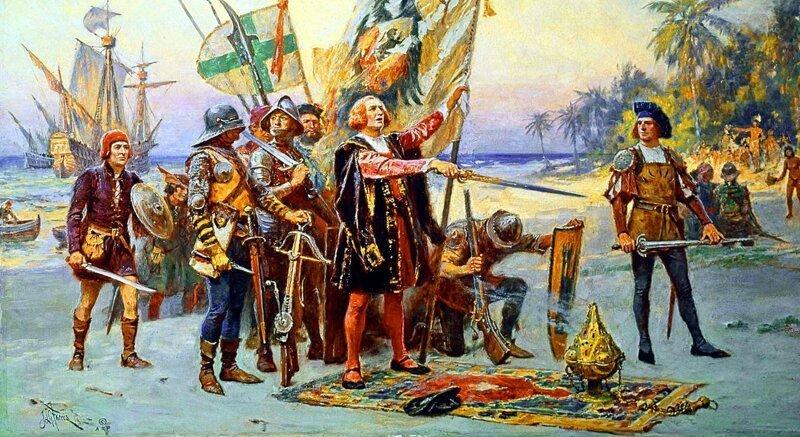 Колумб и его флот высадились в Доминике