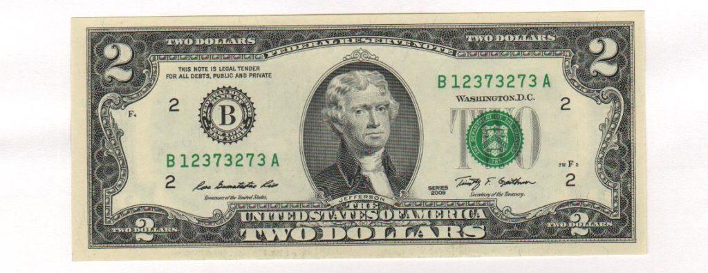 $2: Томас Джефферсон