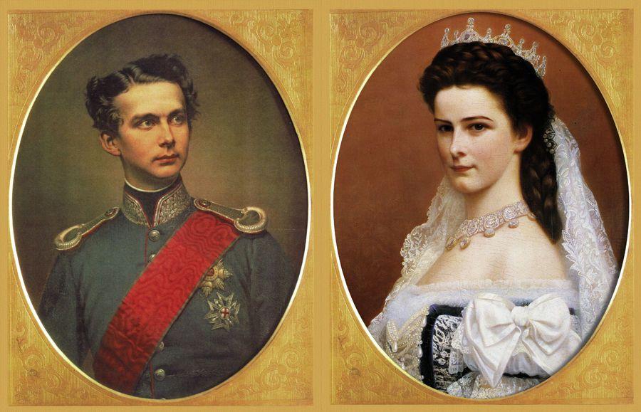 Элизабет и ее кузен Людвиг, будущий король Баварии