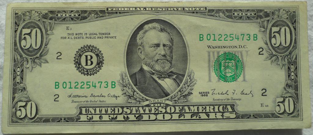 $ 50: Улисс Грант