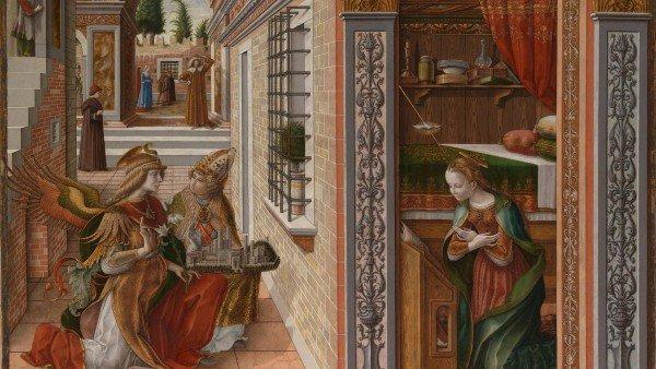Благовещение Со Святым Эмидом, 1486 год, Карло Кривелли