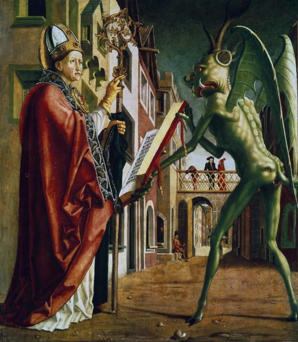 Святой Вольфганг и Дьявол, начало 1400 года