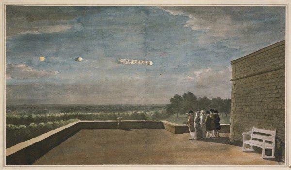 НЛО в картинах за пределами Виндзорского замка, 1783 год