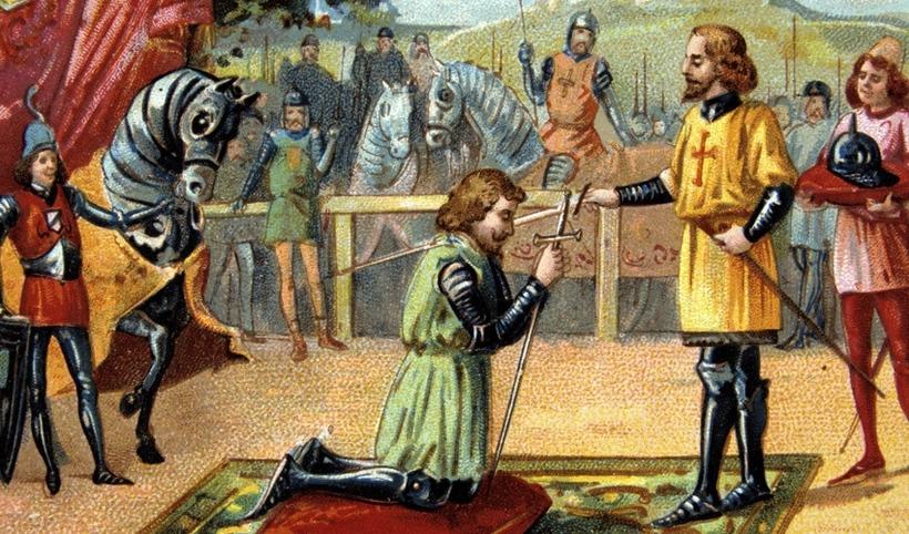 В 1233 году отказ от рыцарства в Англии стал незаконным