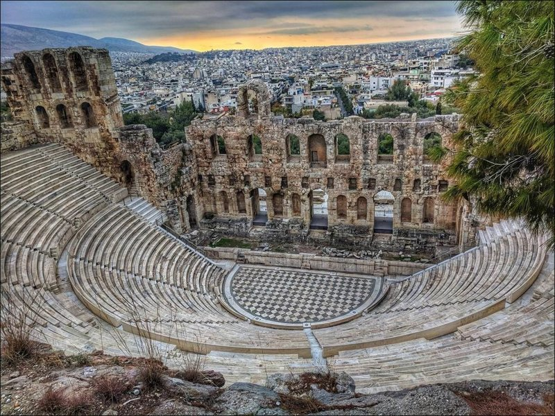 Одеон Герода Аттика, Греция