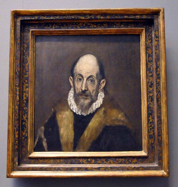 """Эль Греко – """" Портрет старика"""", 1595-1600"""