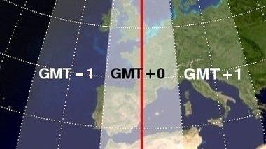 на земном Северном полюсе, нет определенного часового пояса