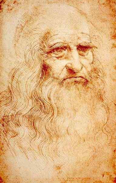 Леонардо да Винчи – «Портрет человека красным мелом», 1512