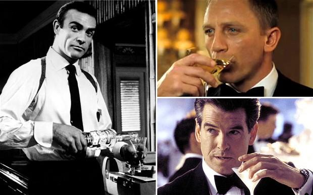 Бонд выпивает каждые 24,3 минуты в фильмах