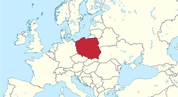 Польша на карте