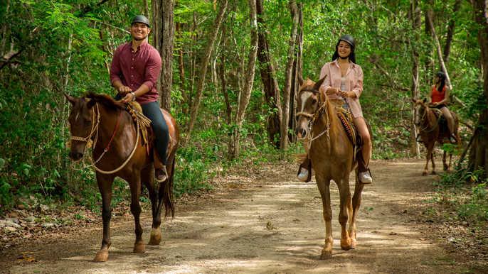 Верховая езда в джунглях