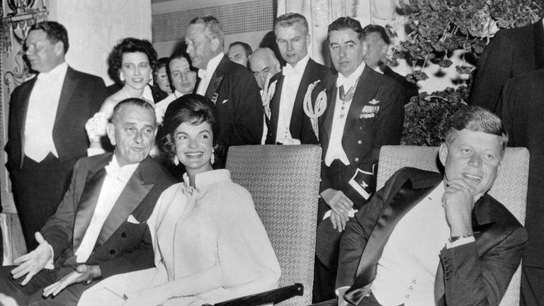 Кеннеди на своем инаугурационном балу